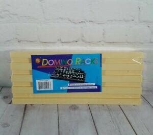 Plastic Domino Racks Tile Holder (Set of 2) Holds 44 Jumbo Size Tiles (New) 5x12