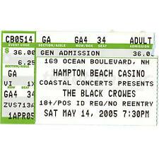 The Black Crowes Concert Ticket Stub Hampton Beach Nh 5/14/05 Casino Good Friday