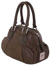 Gian Franco Ferre Damen Handtasche Tasche Leder olivgrün X185