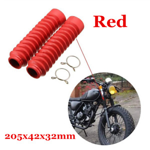 Pair Universal Motorcycle Front Fork Shock Boots Dust Cover Protector Rubber