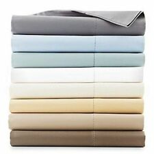 Hudson Park 600 TC Two Ply Egyptian Cotton TWIN Flat Sheet TRUFFLE BROWN A464