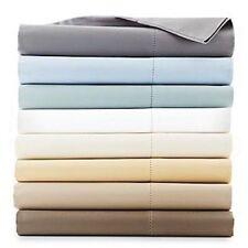 Hudson Park 600 TC Two Ply Egyptian Cotton TWIN Flat Sheet TRUFFLE BROWN A464