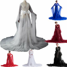 Women Dresses Long Nightgown Bathrobe Sleepwear Lightweight Intimates Bath Robe
