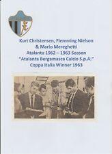 ATALANTA ORIGINAL 1962-1963 RARE ORIG AUTOGRAPHED TEAM PICTURE 3 X SIGNATURES