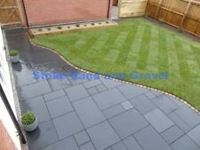 CLEARANCE Black Limestone Paving Tumble Patio Pack Indian Stone Garden Slabs