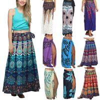 Women Boho Long Maxi Skirt Summer Party Beach Holiday Casual Yoga Loose Sundress