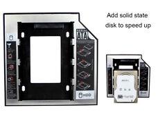 9.5mm Universal SATA 2nd HDD SSD Hard Drive Caddy for CD/DVD-ROM ODD Optical Bay