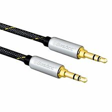 BasAcc Gold 3.5mm Aux Auxiliary Male to Male Stereo Audio Cable For iPod MP3 CAR