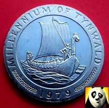 1979 ISLE OF MAN £1 One Pound Coin Viking Ship Withdrawn by the IOM Goverment