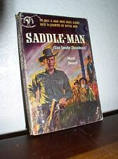 Saddle-Man by Matt Stuart (Bantam,#924,1'st Prt.Sept.1951,Paperback