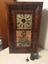 Rare Hills Goodrich & Co Faux Upside Down Movement Ogee Clock