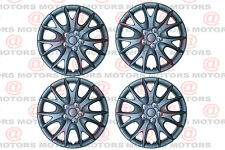 "Chic! Wheel Hub Covers Rim Matte Black Color Set Of 4 Pieces R14"" inch Only New"