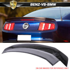 For 10-14 Ford Mustang Trunk Spoiler ABS Painted Ebony Black