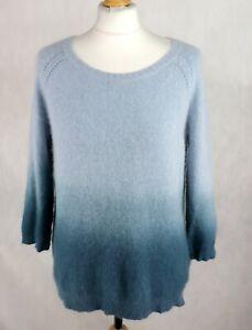 Womens DIESEL Angora Wool blend Jumper Size L UK 12-14 Sweater 3/4 sleeve Ombre