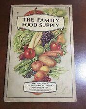 The Family Food Supply WWI Era Guidebook Cook Book 1934 Metropolitan Life Insura