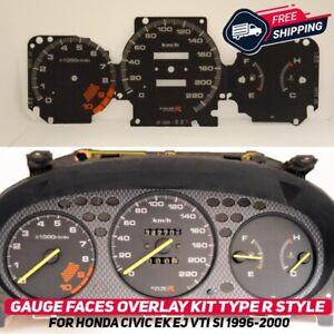 Gauge Faces Overlay Kit Honda Civic EK EJ 1996-2000 VTI SI Type R Style EDM USDM