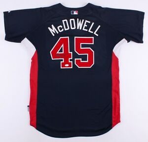 Roger McDowell Signed Atlanta Braves Majestic MLB Jersey (JSA COA)