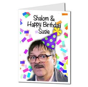 Shalom Jim Birthday Card, Friday Night Dinner Birthday Card Personalised 17