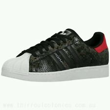 Adidas Superstar II 2  Snake Skin Men Shoes black/red/white size 10.5 us