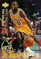 Nick Van Exel 1994 Upper Deck All Rookie Team LA Lakers Official Basketball card