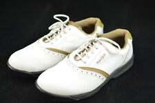 FOOTJOY WOMENS GOLF SHOES CLEAT SIZE 10 M WHITE TAN 48762 SOFT SPIKES GREENJOYS
