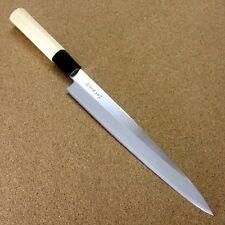 """Japanese Kitchen Sashimi Yanagiba Knife 8.1"""" Wooden handle Single edged JAPAN"""