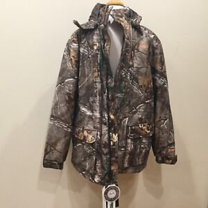 New XTRA Waterproof Windproof Scent Factor Hunting Jacket Coat  M Habit Camo