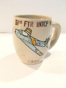 KOREAN WAR* SUWON KOREN 1954 MUG * 51ST FTR. INTCP. WG * 16TH FTR. INTCP. SQDN.