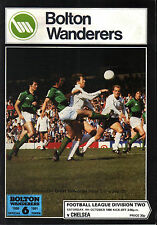 1980/81 Bolton Wanderers v Chelsea, Division 2, PERFECT CONDITION