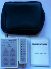 COMPROBADOR TESTER CABLE RED LAN RJ45 y BNC con FUNDA TRANSPORTE ST-248