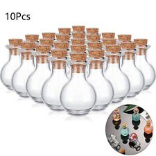 10x Small Glass Bottles Miniature Potion Bottle Mini Cork Glass Vials Weddish