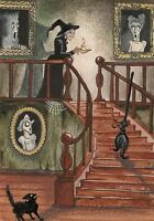 1.5x2 DOLLHOUSE MINIATURE PRINT OF PAINTING RYTA 1:12 SCALE HALLOWEEN ALPHABET K