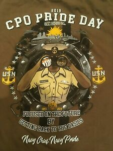 US Navy USN 2019 CPO Pride Day  Chief Petty Officer T shirt XL