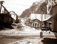 "1897 Street in Juneau, Alaska Vintage Photograph 8.5"" x 11"" Reprint"