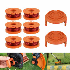 6Pcs+2Cap Grass Trimmer Line For Worx Trimmer Spools Weed Eater Edger String