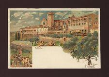 Italy ASSISI Artist Carloforti c1902 chromo u/b PPC