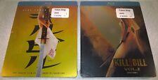 Kill Bill 1 & 2 (2013, Canada, Region Free) Futureshop Steelbooks NEW