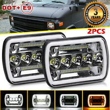 "180W 7X6"" 5X7"" LED Headlight DRL turn signal light For Jeep chevrolet express"