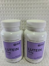 Lutein 20mg - GLS Pharmaceuticals Eye Health Supplement (2-Pack, 120ct) EXP 4/21