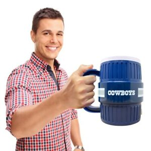 DALLAS COWBOYS Water Cooler Mug - Beer Coffee Cup Stein Tailgating Gift