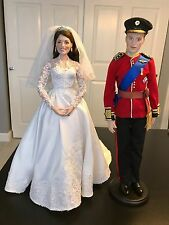 Danbury Mint Princess Kate Bride Doll and Prince William Groom Doll
