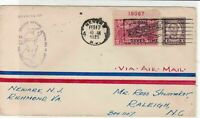 united states 1929 air mail flight stamps cover ref 20048