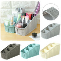 Plastic Office Storage Basket Makeup Container Organizer Holder Kitchen Box Bin