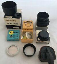 Collection Vintage 35mm Camera Filters Hoods Mounts Adaptors etc Canon Soligor
