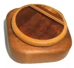 Vintage Colorado Artisan Derek Secor Davis Inlaid Exotic Woods Wooden Box