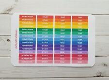 60 Rainbow School/ College Header Planner Stickers- Perfect For Erin Condren