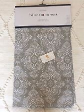 Pair 2 Tommy Hilfiger Window Curtain Panel Drape Lucille Damask Gray Cotton 96""