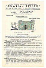 NOTICE DEMARIA-LAPIERRE vers 1900 / lanterne magique magic lantern