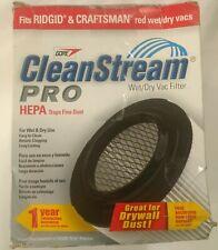Ridgid Craftsman Red Wet Dry Vac HEPA Filter Gore CleanStream Pro Vacuum Dust