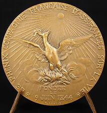 Médaille assurance Le phénix ou phœnix oiseau légendaire résurrection 1954 Medal